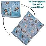 Dazoriginal almohada manta para el beb� reci�n nacido regalo Set - beb� Playmat - manta de viaje y Almohada - beb� mantas actividad alfombra 100% algod�n (Baby Blue Bear)
