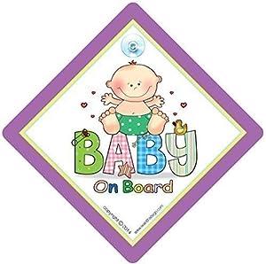 Bebé A Bordo Señal Coche, Patchwork, Baby On Board, Cartel Para Coche, Unisex Para Ventana De Coche Señal De Seguridad por iwantthatsign.com en BebeHogar.com