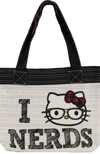 Hello Kitty I Heart Nerds Tote Bag