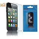 niceEshop(TM) 2 Packs Crystal Clear£šInvisible) Screen Protector Film fit for Apple Ipod touch 4 + niceEshop Cable Tie