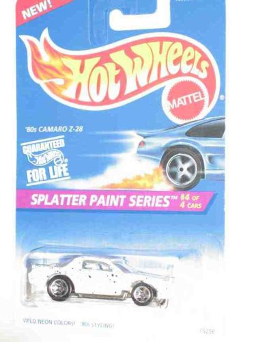Splatter Paint Series #4 '80s Camaro Z-28 #411 Collectible Collector Car Mattel Hot Wheels - 1