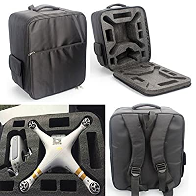 E-wonderful Black Color Nylon Case Backpack Shoulder Bag for Drone quadcopter DJI Phantom 3 Professiona