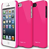 Estuche duro  Ringke SLIM LF para Apple iPhone 5, color rosa.