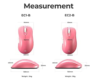 ZOWIE EC2-B Divina Version Mouse for e-Sports, Pink (Color: Pink, Tamaño: 120 x 61 x 40 mm)