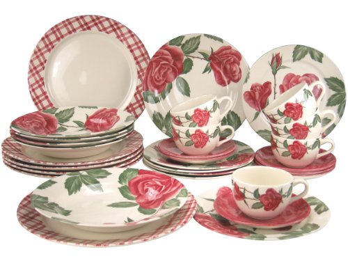 Creatable Dinnerware Set, Roseby, 30 Piece