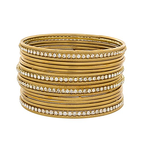 The Luxor Australian Diamond Studded Daily Wear Bangles Set For Women