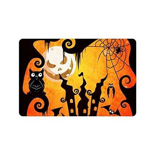 [Custom Halloween Trick Or Treat Doormat Entrance Mat Floor Mat Rug Mats Rubber Non Slip 23.6
