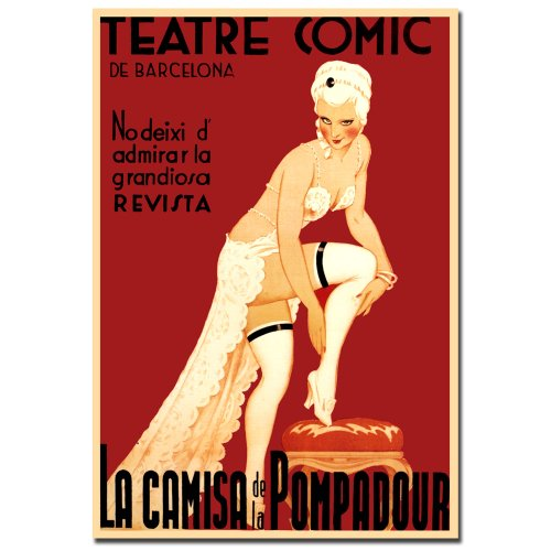 Trademark Fine Art Teatre Comic De Barcelona Canvas Wall Art, 18X24-Inch front-704967