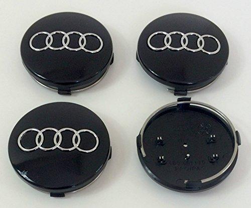 set-of-four-alloy-wheels-centre-hub-caps-black-covers-badge-60mm-4b0-601-170-fits-audi-a3-a4-a5-a6-a