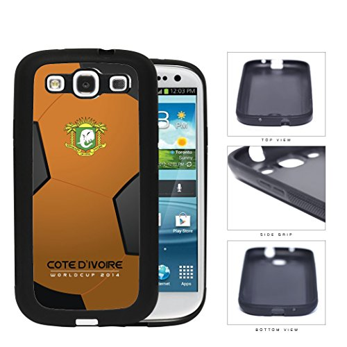 Cote D'Ivoire (Ivory Coast) World Cup 2014 Soccer Ball Rubber Silicone Tpu Cell Phone Case Cover Samsung Galaxy S3 I9300