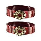 vidhya kangan antiqe bangles Color Red Size-2.10