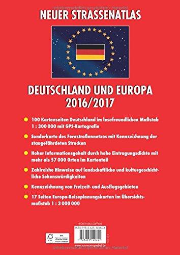 Neuer Straßenatlas Deutschland/Europa 2016/2017: Deutschland 1 : 300 000 / Europa 1 : 3 000 000: Alle Infos bei Amazon
