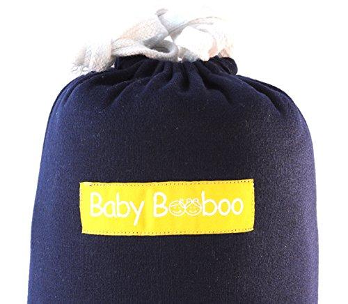 Baby Booboo Panno Fascia Wrap - Imbracatura Porta Bebè Baby Sling Wrap - Morbida Fascia per Trasporto Neonato Soft Baby Carrier - Favoloso Regalo Nascita Bebè (Blu Marina)