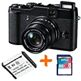 Bundle: FujiFilm X10 Digital Camera +8GB + Spare Battery Bundle (Fujifilm X10 12MP EXR CMOS, 4x Optical Zoom 2.8 inch LCD Screen)