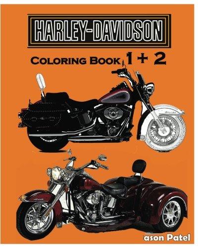 Harley-Davidson :  Coloring Book 1+2: Sketch Coloring Book