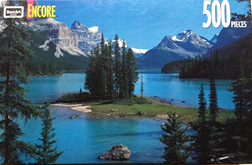 Encore Jigsaw Puzzle 500 Piece Rose Art Lake Maligne
