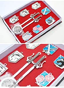 Shingeki No Kyojin 9 Times Pendant Necklace Clasp Pendant