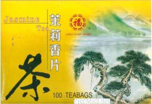 Lucky Eight Jasmine Green Tea - 100 Individually Wrapped Tea Bags (7 Oz)