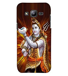 ColourCraft Lord Shiva Design Back Case Cover for SAMSUNG GALAXY J2 J200G