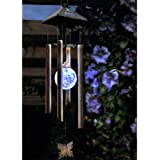 Moon Solar Powered Wind Chimes / Decorative Solar Garden Light by SPV Lights: The Solar Lights & Lighting Specialists (Free 2 Year Warranty Included)