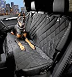 Dog Seat Cover For Cars With The Best Nonslip Backing and Hammock Barrier - Black Regular Universal Fit