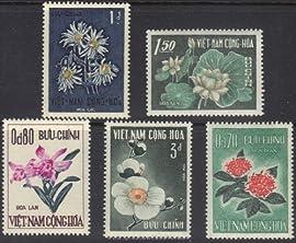 South Vietnam Stamps - 1965 , Sc 261-5, Flowers, MNH, F-VF