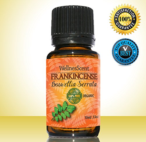 Frankincense Essential Oil - 100% Pure - Certified Organic, 10 ml Boswellia Serrata.