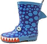 [ゼンアン]ZENAN 雨の日も楽しくなるレインブーツ キッズ長靴  イラスト 滑りにくい   サメ 19cm