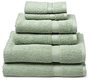 Pike Street 100-Percent Egyptian Cotton 725-Gram 6-Piece Towel Set, Pale Green