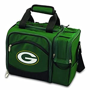 NFL Green Bay Packers Malibu Insulated Shoulder Pack with Deluxe Picnic Service for... by Picnic Time