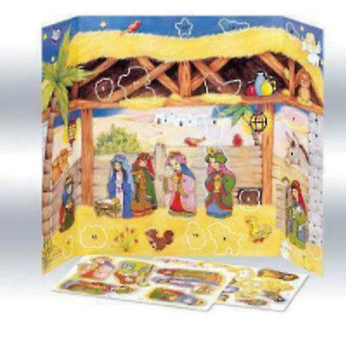 Manger Scene Advent Calendar with Stickers #CA484