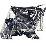 Euret 73887 - Protector para la lluvia para silla de paseo doble