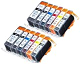 12 Pack Compatible Canon CLI-226 , PGI-225 2 Small Black, 2 Cyan, 2 Gray, 2 Magenta, 2 Yellow, 2 Big Black for use with Canon PIXMA MG6120, PIXMA MG6220, PIXMA MG8120, PIXMA MG8120B, PIXMA MG8220. Ink Cartridges for inkjet printers. CLI-526BK , CLI-526C , CLI-526GY , CLI-526M , CLI-526Y , PGI-525BK Blake Printing Supply