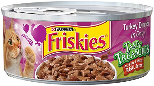 Friskies Tasty Treasures Turkey Dinner In Gravy Accented With REAL Bacon
