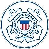 """United States Coast Guard Logo Aluminum Sign Round 12"""", Uscg 1790 Semper Paratus"""
