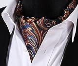 SetSense Mens Floral Jacquard Woven Self Cravat Tie Ascot