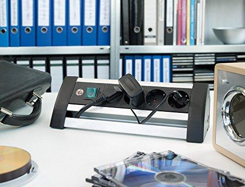 Schreibtisch steckdosenleiste com forafrica for Design tisch steckdosenleiste