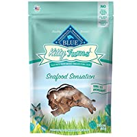 Blue Buffalo Assorted Seafood Kitty Yums Cat Treats, Tuna Salmon, Seafood