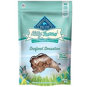 Blue Buffalo Assorted Seafood Kitty Yums Cat Treats, Tuna Salmon, Seafood