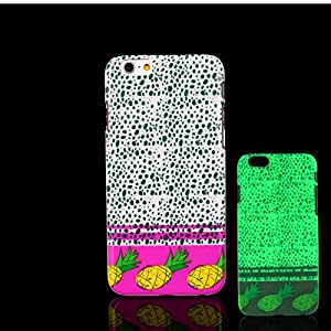 iPhone 7 Case, Glow in the Dark Hawaiian Style Pineapple Pattern TomCase Fluorescent Back Cover for iPhone 7 Case 4.7 inch, P3