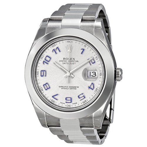 Rolex Datejust II Rhodium Dial Stainless Steel Automatic Mens Watch 116300RBLAO