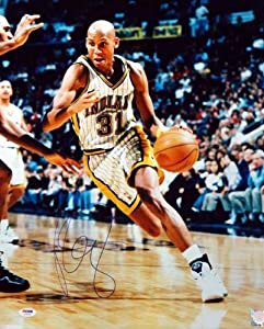 Reggie Miller Autographed Hand Signed 16x20 Photo Pacers PSA DNA #S76745 by Hall+of+Fame+Memorabilia