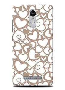 SKIMIJO Designer Printed case Valentine for Xiaomi Redmi Note 3
