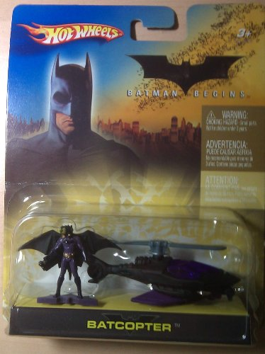 Hotwheels Batman Begins Batcopter and figure 1:64 Scale - 1