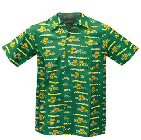 University Of Oregon Childs Hawaiian Shirt Size 14 16 Uo Ducks Cotton Shirts Fo