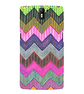 EPICCASE color triangle Mobile Back Case Cover For OnePlus One (Designer Case)