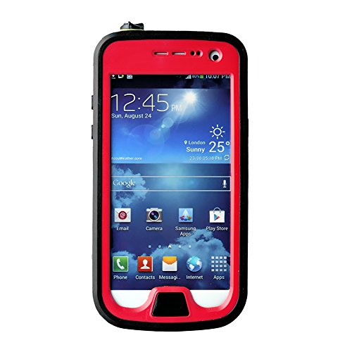 FAVOLCANO® Redpepper Small Dots Series - Waterproof Shockproof Snowproof Dirtproof Dustproof Durable Protective Case for Samsung Galaxy S4 Mini (Red) (Samsung S4 Mini Case Red compare prices)