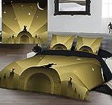 Kingsize Bed Duvet & Pillowcase Set 'FLY ME TO THE MOON' by Ian Kent