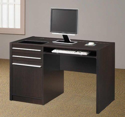 Buy Low Price Comfortable Cappuccino Computer Desk – Coaster 800702 (B005LWRMD0)