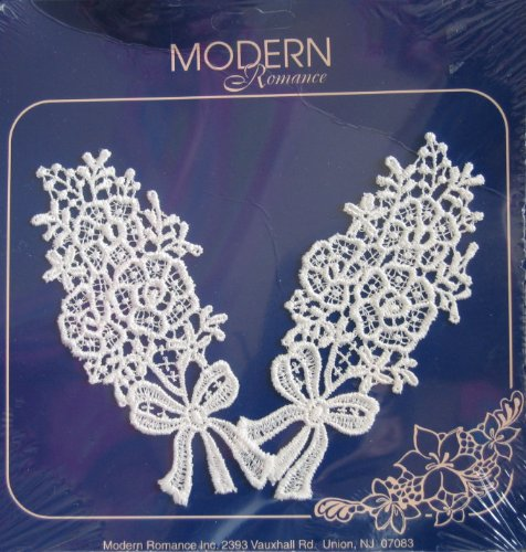 Spring Bouquets Venice Lace Appliques Decorative Trim - Modern Romance (2 White Appliques in Package)